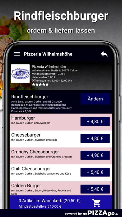 Pizzeria Wilhelmshöhe Calden screenshot 6