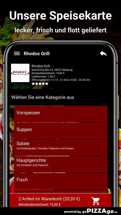Rhodos-Grill Marburg screenshot 4