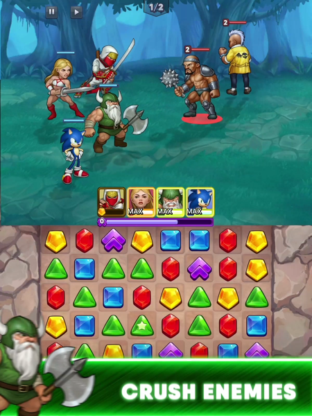 SEGA Heroes: Puzzle RPG Quest - Revenue & Download estimates