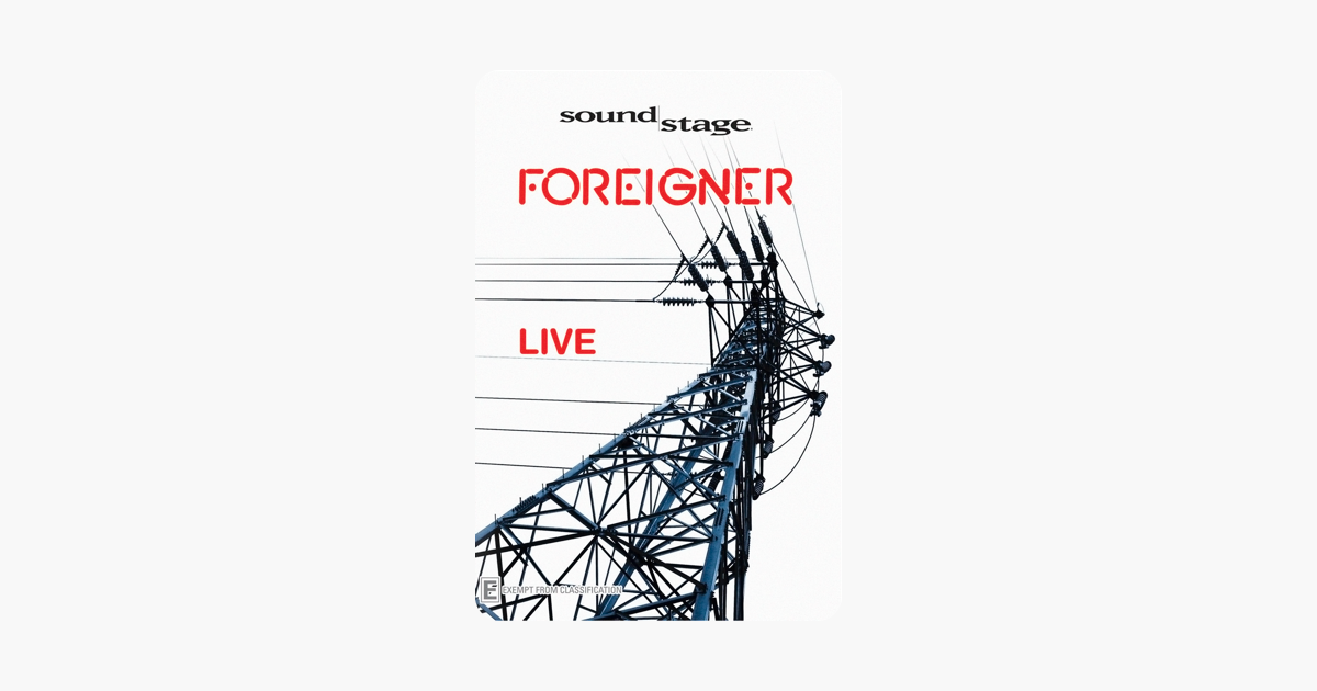 Foreigner: Live on iTunes