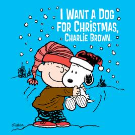 Christmas Charlie Brown.I Want A Dog For Christmas Charlie Brown